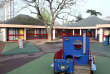 Photo prise le 4 avril 2012 de l'aire de jeux de l'école maternelle Chateaubriand à Créteil, où deux enfants avaient été agressés sexuellement par leur instituteur.