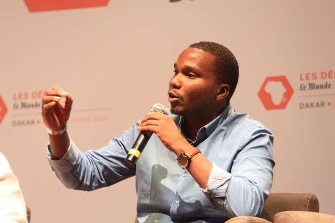Sobel Ngom, lors des Débats du Monde Afrique organisés à Dakar les 27 et 28 octobre 2016.
