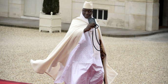 Le président gambien, Yahya Jammeh, à l'Elysée, le 6 décembre 2013.