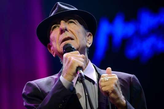 Leonard Cohen en concert lors du 47e Montreux Jazz Festival en juillet 2013.
