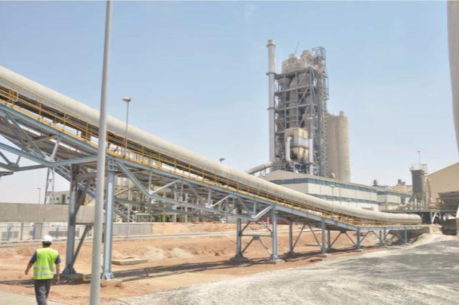 Ligne de production de ciment dans l'usine Lafarge de Jalabiya, dans le nord-est de la Syrie, en 2012.