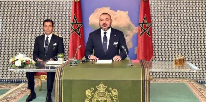 Mohammed VI a prononcé son traditionnel discours du trône à Dakar, le 6 novembre 2016.