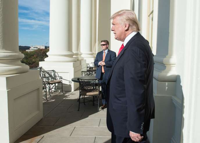 Donald Trump au Capitole, à Washington, le 10 novembre.