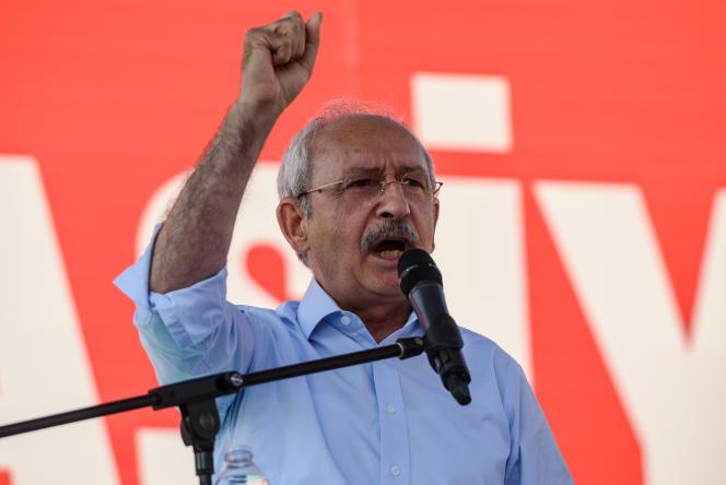 Kemal Kilicdaroglu, le leader du Parti républicain du peuple, le 24 juillet à Istanbul en Turquie.
