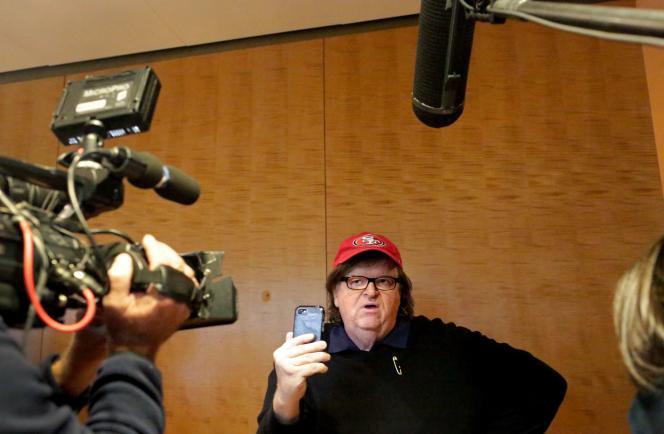 Michael Moore, le 12 novembre à la Trump Tower.