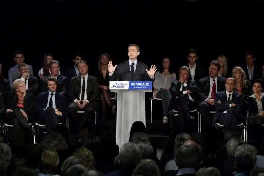 Nicolas Sarkozy à Bordeaux, le 12 novembre.