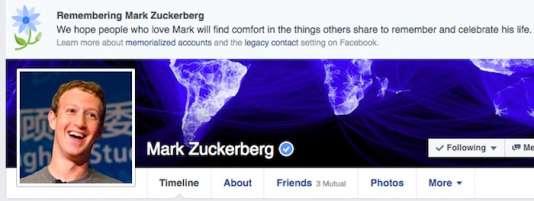 Le fondateur de Facebook n'a pas été épargné par le bug.