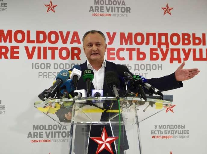 Igor Dodon le 13 novembre.