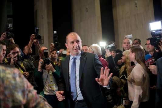 Le président élu bulgare, Roumen Radev, le 13 novembre à Sofia.