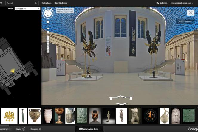 Google a signé un accord non commercial avec le British Museum de Londres.