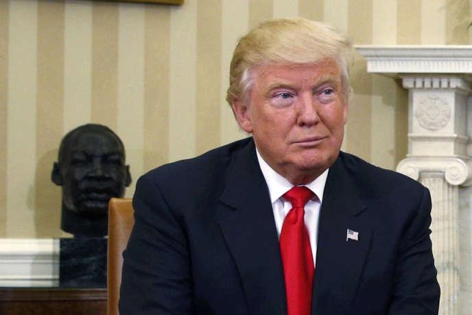 Donald Trump lors de sa rencontre avec Barack Obama à la Maison Blanche à Washington le 10 novembre 2016.