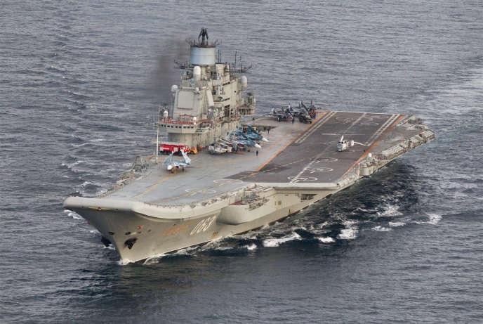 L'«Admiral Kuznetsov» au large de la Norvège, le 17 octobre.