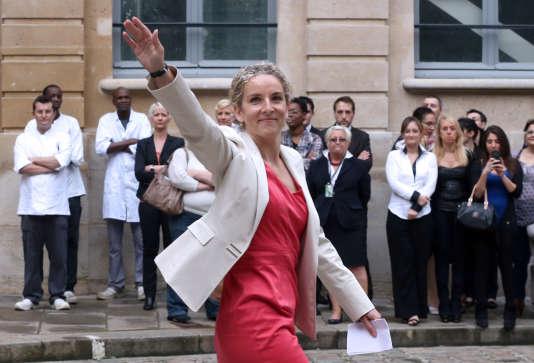 L'ancienne ministre de l'écologie, Delphine Batho, le jour de la passation de pouvoir, le 3 juillet.
