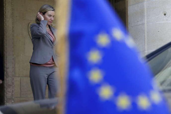 La haute représentante européenne, Federica Mogherini, à Nicosie, le 28 octobre.
