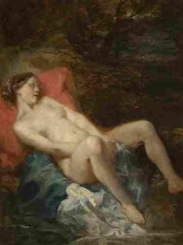 """«Baudelaire apprécie le talent de Tassaert, autant à l'aise dans les tableaux religieux que dans les tableaux érotiques. """"On dirait que M. Tassaert s'est préoccupé de la manière de Delacroix ; néanmoins, il a su garder une couleur originale"""".»"""