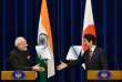 Le premier ministre japonais, Shinzo Abe, et son homologue indien, Narendra Modi, lors d'une conférence de presse, le 11 novembre 2016.
