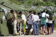 Le camp de réfugié sur l'île de Nauru en 2001.
