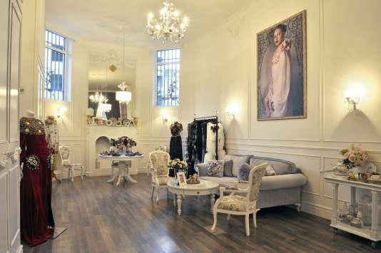 L'atelier et showroom du styliste Vahan Khachatryan, figure montante de la mode.