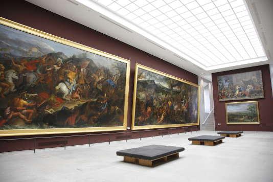 Des traces d'eau ont été retrouvées sur plusieurs murs du musée parisien.