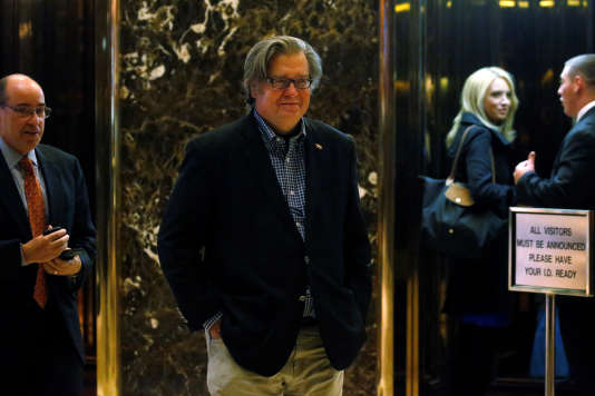 Stephen Bannon à la Trump Tower, à New York, le 11 novembre 2016.