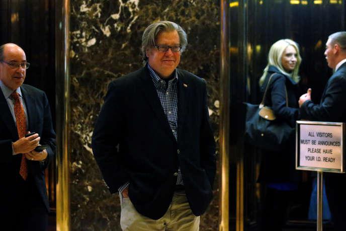 Stephen Bannon à la Trump Tower, à New York, le 11 novembre 2016.