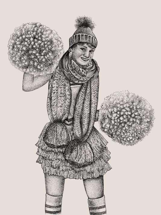 Voici la « femme à pompons » ou la « Pomponette », pour les intimes.