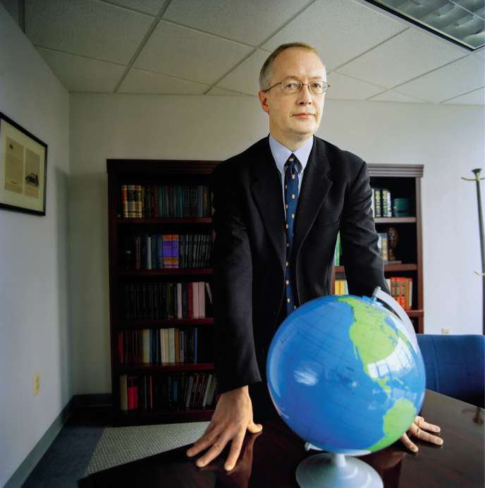 Myron Ebell dans son bureau du think tank Competitive Enterprise Institute à Washington, DC.