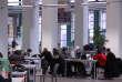 A la bibliothèque du campus Saint-Charles de l'université Aix-Marseille.