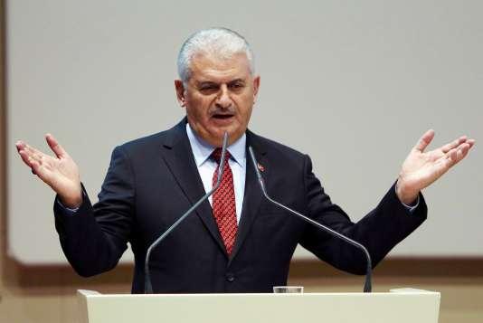 Le premier ministre Binali Yildirim, à Ankara, le 16novembre.