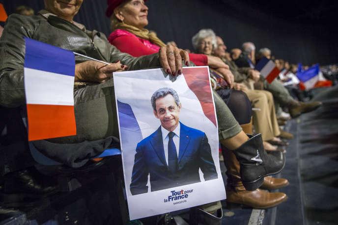 Meeting de Nicolas Sarkozy, candidat à la primaire de la droite, au palais Nikaia, à Nice, mardi 15 novembre 2016.