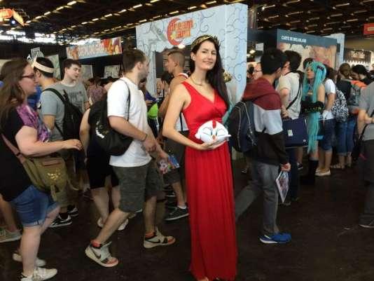 Elsa Brants lors de la Japan Expo 2016 qui mettait à l'honneur les mangakas français.
