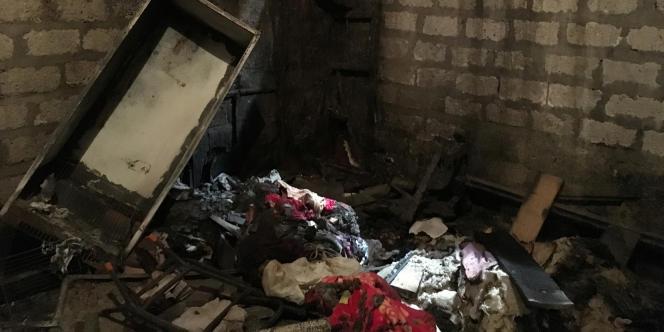 L'une des sept maisons chrétiennes saccagées dans la province égyptienne de Minya le 27 mai 2016.