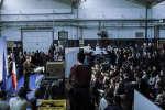 Emmanuel Macron déclare sa candidature à l'élection présidentielle le mercredi 16 novembre 2016 dans un centre d'apprentissage à Bobigny (Seine Saint Denis) Photo : Julien Daniel / MYOP
