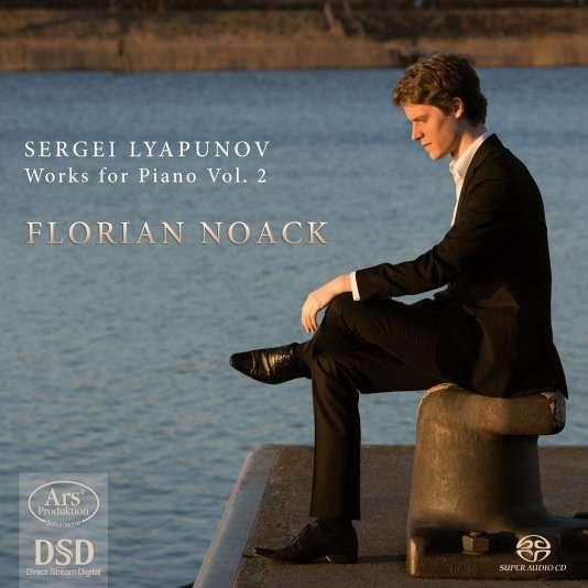 Pochette de l'album« Works for piano vol. 2»,recueil d'œuvres pour piano de Sergueï Liapounov par Florian Noack.