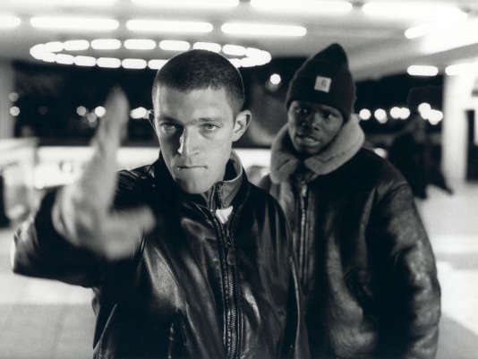 Vincent Cassel et Hubert Koundé, dans «La haine» (1996).