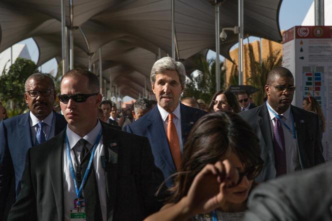 Le secrétaire d'Etat américain, John Kerry, le 16 novembre à Marrakech.