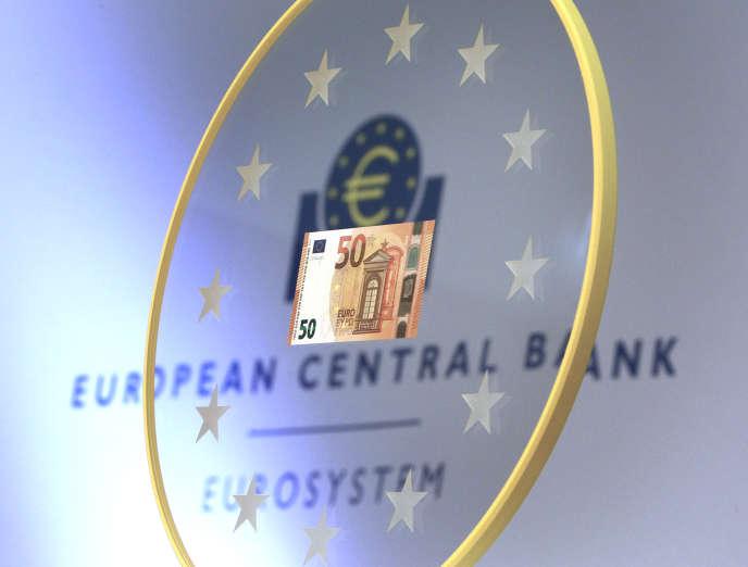 Le nouveau billet de 50 euros présenté à la BCE, à Francfort-sur-le-Main (Allemagne), le 5 juillet 2016.