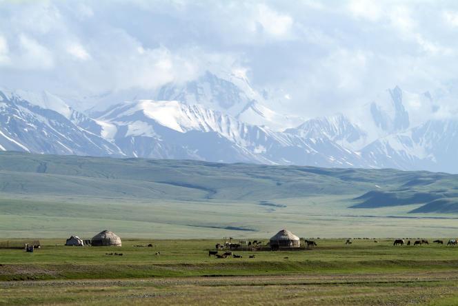 La vallée d'Alaï, dans le sud du Kirghizistan.