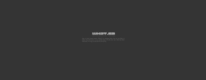 Ce message s'affiche désormais sur le site de What.cd.