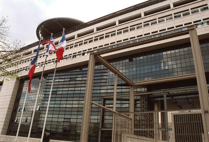 Le ministère de l'économie et des finances, à Paris.