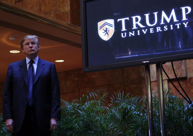 En 2005, Donald Trump présentait fièrement l'Université Trump à New York. Il met un terme à cette histoire au travers d'un accord amiable.