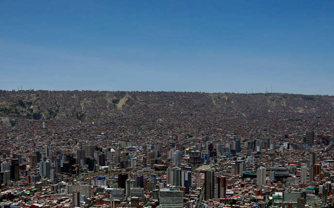 Ville de La Paz, en Bolivie, le 14 novembre 2016. ,