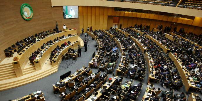 L'assemblée générale de l'Union africaine, au siège de l'organisation, à Addis-Abeba, en janvier 2016.