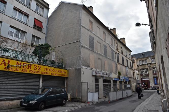 L'immeuble de la rue Corbillon à Saint-Denis en octobre 2016.