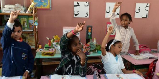 Dans une classe d'arabe, à Rabat, en mai 2014.