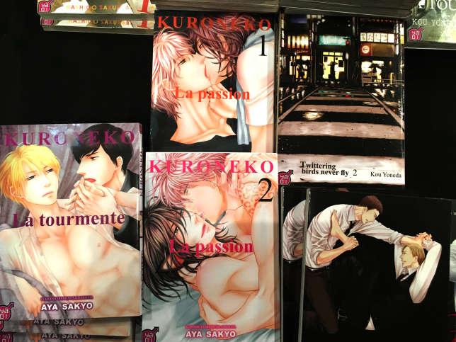 Quelques mangas «yaoi» édités par Taifu Comics.