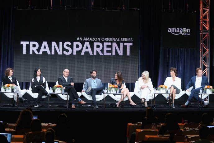 Les créateurs et acteurs de «Transparent», en août 2015 à Beverly Hills. Produite par Amazon, la série a remporté deux Golden Globes.