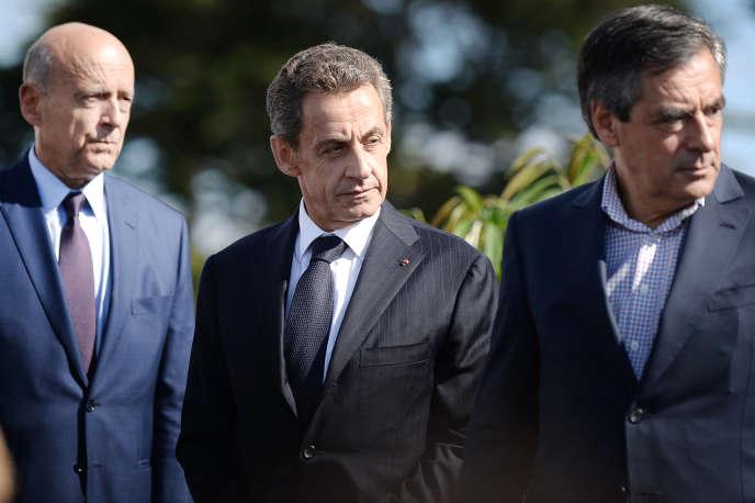 Alain Juppé, Nicolas Sarkozy et François Fillon, en 2015.