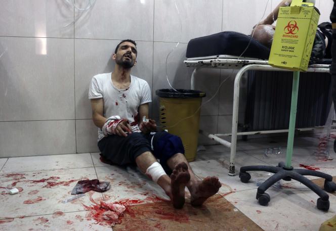A Alep-Est, dans un hôpital de fortune, le 18 novembre.
