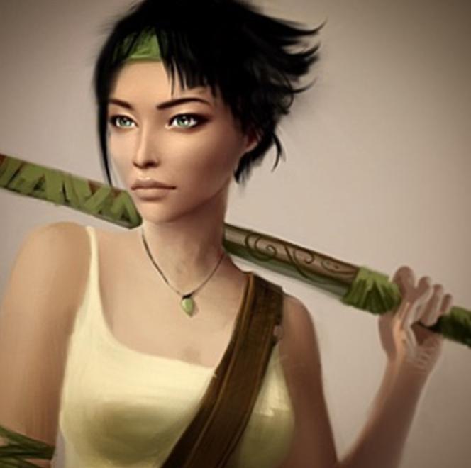 Jade, l'héroïne métisse de« BGE», dans un dessin préparatoire de 2008.